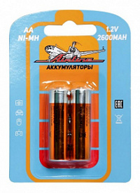 Элемент питания AIRLINE HR6/AA аккумулятор Ni-Mh 2600 mAh 2шт.